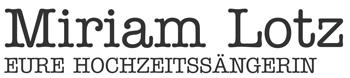Logo Miriam Lotz - Eure Hochzeitssängerin